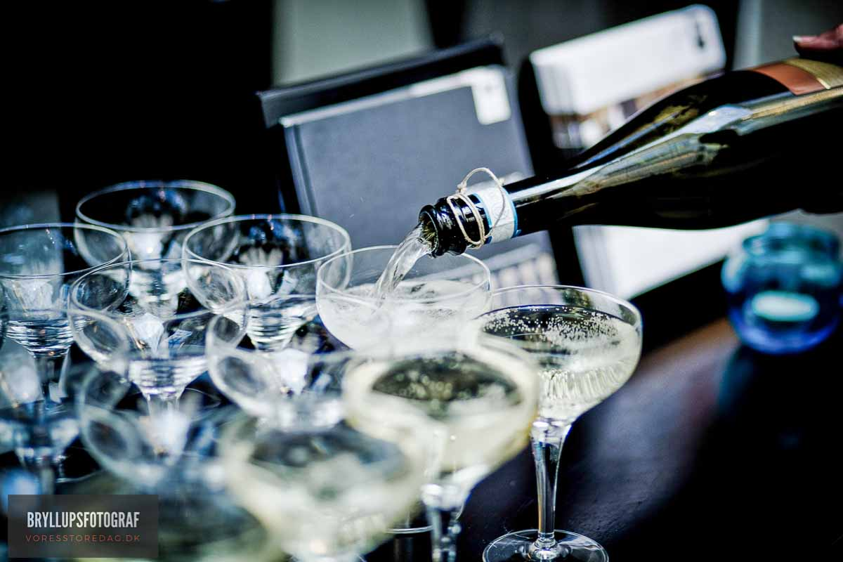 champagne bryllup